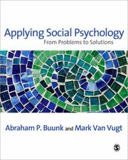 Cover of: Applying Social Psychology