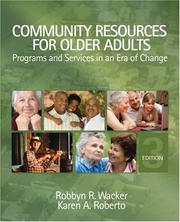 Cover of: Community Resources for Older Adults