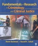 Cover of: Fundamentals of Research in Criminology and Criminal Justice