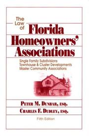 Cover of: The Law of Florida Homeowners' Associations