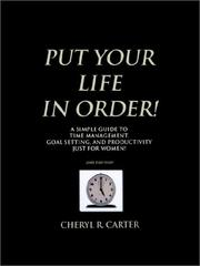 Cover of: Put Your Life in Order