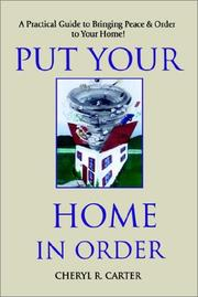 Cover of: Put Your Home in Order