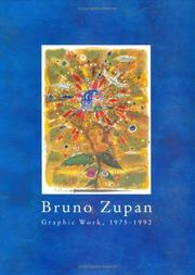Cover of: Bruno Zupan, Graphic Work, 1975-1992