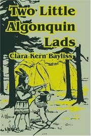Cover of: Two Little Algonquin Lads