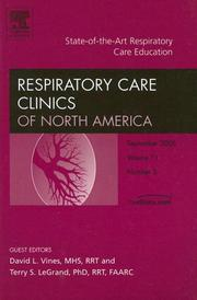 Cover of: State-of-the-Art Respiratory Care Education, An Issue of Respiratory Care Clinics (The Clinics: Internal Medicine)
