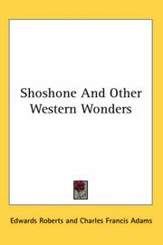 Cover of: Shoshone And Other Western Wonders