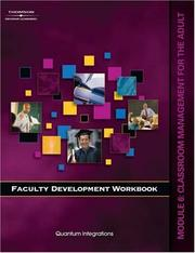 Cover of: Faculty Development Companion Workbook Module 6: