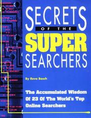 Cover of: Secrets of the super searchers