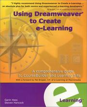 Cover of: Using Dreamweaver to Create e-Learning