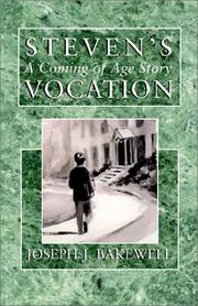 Cover of: Steven's Vocation