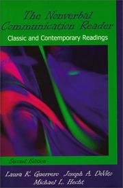 Cover of: The nonverbal communication reader