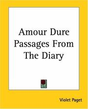 Cover of: Amour Dure Passages From The Diary