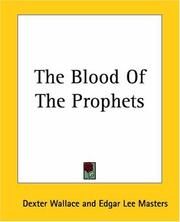 Cover of: The Blood Of The Prophets