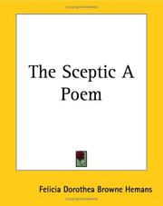 Cover of: The Sceptic a Poem