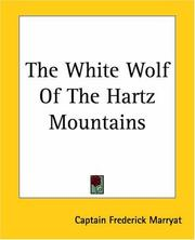Cover of: The White Wolf Of The Hartz Mountains
