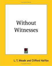 Cover of: Without Witnesses