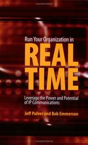 Cover of: Run Your Organization in Real Time