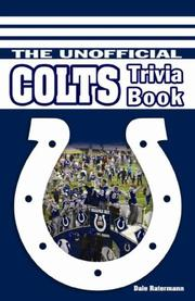 Cover of: The Unofficial Colts Trivia Book