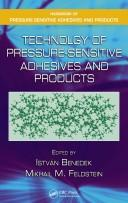 Cover of: Technology of Pressure-Sensitive Adhesives and Products (Handbook of Pressure-Sensitive Adhesives and Products)