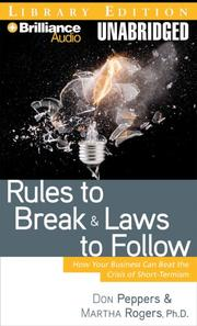 Cover of: Rules to Break and Laws to Follow