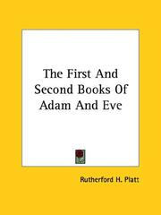 Cover of: The First and Second Books of Adam and Eve
