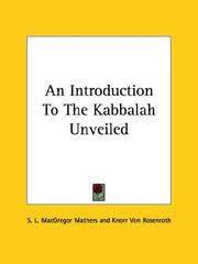 Cover of: An Introduction To The Kabbalah Unveiled