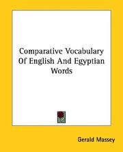 Cover of: Comparative Vocabulary of English and Egyptian Words