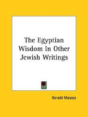 Cover of: The Egyptian Wisdom in Other Jewish Writings