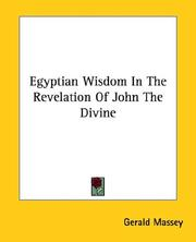 Cover of: Egyptian Wisdom in the Revelation of John the Divine