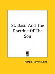 Cover of: St. Basil and the Doctrine of the Son