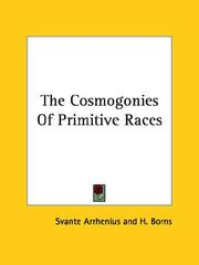 Cover of: The Cosmogonies of Primitive Races