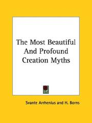 Cover of: The Most Beautiful and Profound Creation Myths