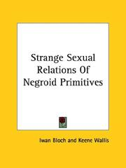 Cover of: Strange Sexual Relations of Negroid Primitives