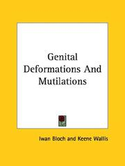 Cover of: Genital Deformations and Mutilations