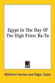 Cover of: Egypt In The Day Of The High Priest Ra-Ta
