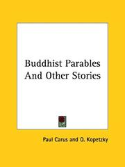 Cover of: Buddhist Parables And Other Stories