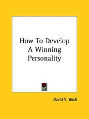 Cover of: How To Develop A Winning Personality