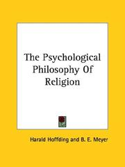 Cover of: The Psychological Philosophy of Religion