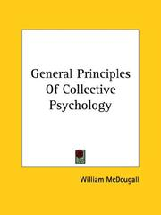 Cover of: General Principles of Collective Psychology