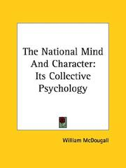 Cover of: The National Mind and Character