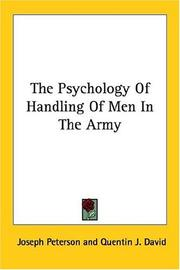 Cover of: The Psychology of Handling Men in the Army