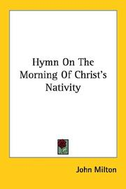 Cover of: Hymn on the morning of Christ's nativity
