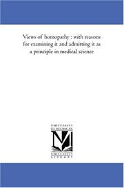 Cover of: Views of homopathy