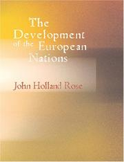 Cover of: The Development of the European Nations (Large Print Edition): 1870-1914