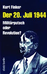 Cover of: Der 20. Juli 1944