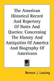 Cover of: The American Historical Record And Repertory Of Notes And Queries
