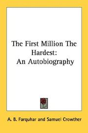 Cover of: The First Million The Hardest