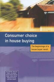 Cover of: Consumer Choice in House Buying