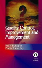 Cover of: Quality Control, Improvement And Management