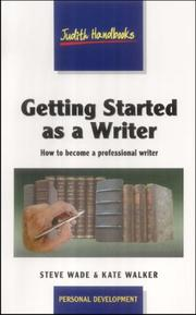 Cover of: Getting Started as a Writer (Studymates)